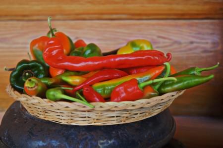 Chilli og paprika